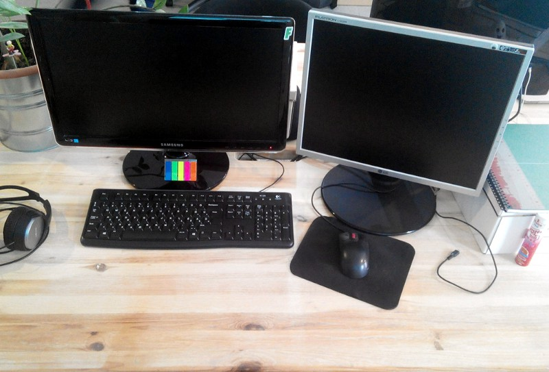 This is, how János's workplace looks like as a junior frontend developer.