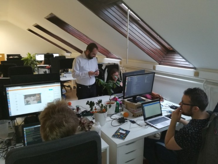 This is the office where Anikó works as a javascript developer